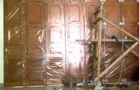 Pintu besi garasi wina PB1 8daun tikung 2arah komponen W600...minat PM...